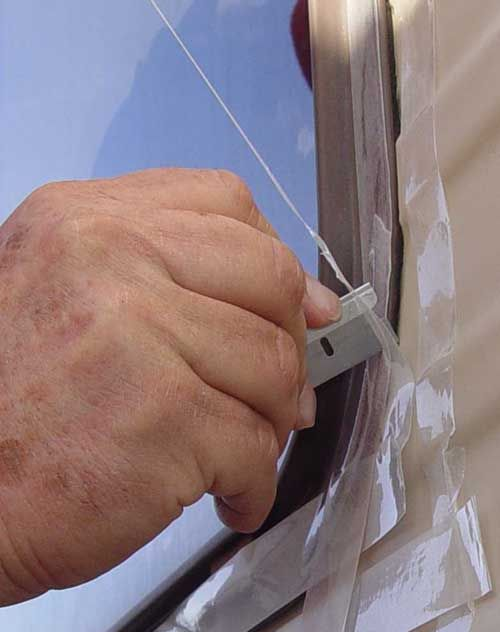 Steps to recaulking your RV windows! Keep your Class A Motorhome looking 100%.