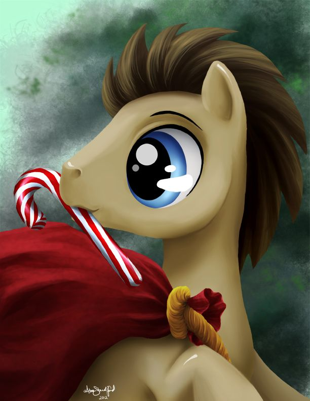 Merry Christmas from Dr. Hooves by PaintedHoofprints.deviantart.com on @DeviantArt