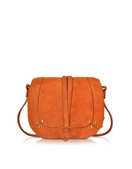 JEROME DREYFUSS VICTOR ORANGE SPLIT SCHULTERTASCHE AUS WILDLEDER