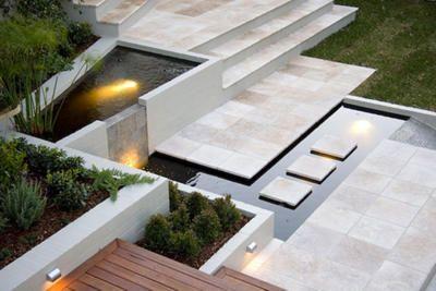 Modern cream stone.  For more contemporary home ideas:  www.residentialattitudes.com.au/my-design-studio/images