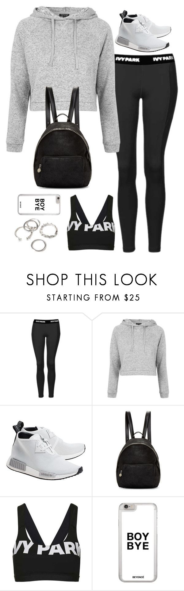 """""""Untitled#4559"""" by fashionnfacts ❤ liked on Polyvore featuring Topshop, adidas Originals, STELLA McCARTNEY and Forever 21"""
