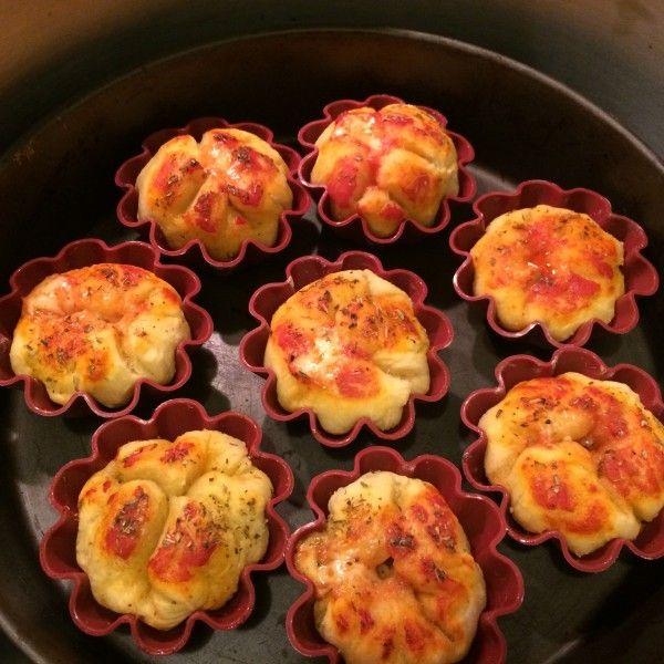 Pizza muffins con magic cooker