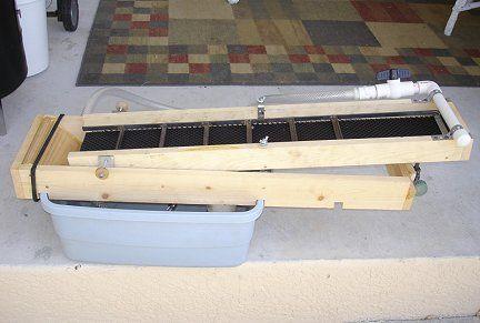 My home-built recirculating sluice or highbanker