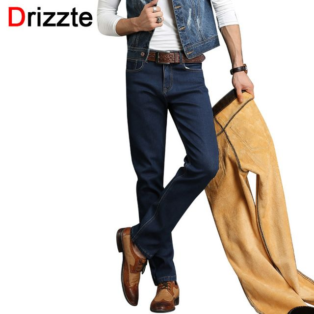 Special offer Drizzte Brand Winter Thermal Fleece Stretch Denim Quality Flannel Lined Jeans Jean Trousers Pants Size 30 32 34 36 38 40 42 just only $25.50 with free shipping worldwide  #jeansformen Plese click on picture to see our special price for you