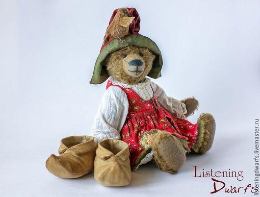 Teddy Bears handmade. SALE! Teddy Bear Helga and her little friend Svein OOAK FREE SHIPPING. Aleksandra Kulikova (listeningdwarfs). Online shopping on My Livemaster.#teddy #bear #teddybear #handmade #artdoll #ooakteddy #toy #bunny #teddybunny #rabbit #teddyrabbit #motherday