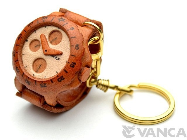 Watch Leather Keychain