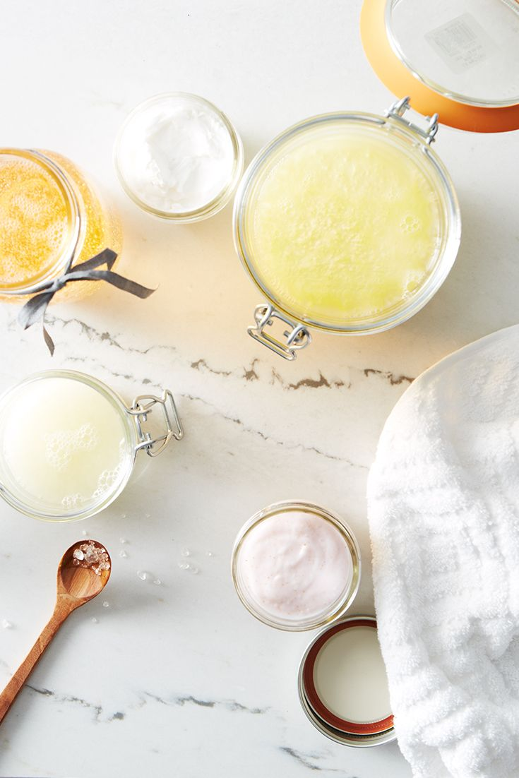 Bring charm to the bathroom with a homemade touch - like these lovely mason jar toiletries.