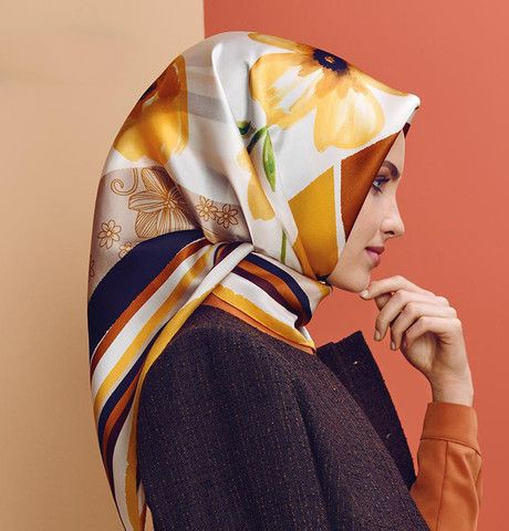 Armine Silk Hijab Scarf Fall 2015 - Winter 2016 # 7283 – Modefa USA