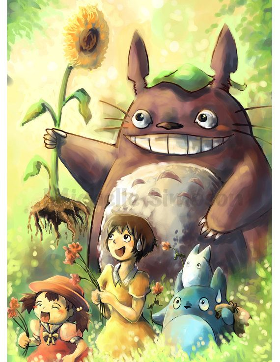 totoro illustration by michiscribbles on Etsy, $12.00