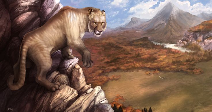 Panthera leo spelaea in Pleistocene Europe by David Wentworth
