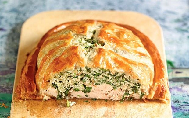 Chicken and watercress pithivier recipe This chicken and watercress pie is as delicious eaten cold as hot.