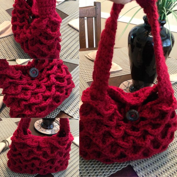 Crochet Handbag with Crocodile Stitch Pattern by Lu ...