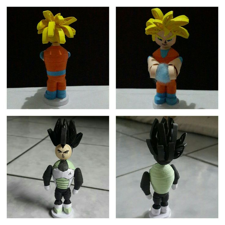 Dragon ball character quilling