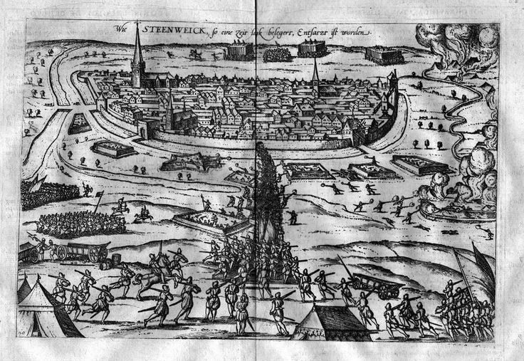 1580 - Steenwijk Holland Battle Kupferstich Hogenberg
