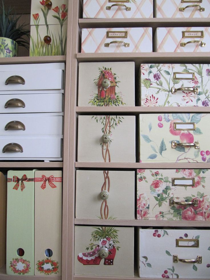 beautiful boxes to organize everything. who wouldn't want to spend the day playing in their closet as lovely as this?
