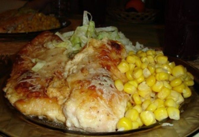 Tepsiben sült csirke sajtpanírban recept