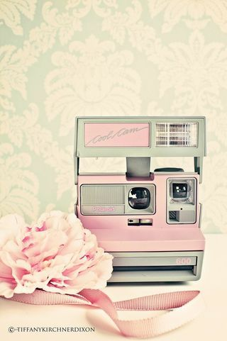 pink Polaroid  - had one as a child :) pink and grey.