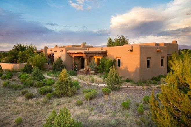 Santa fe adobe photos house of the day exterior colors adobe and natural building - How to build an adobe house ...