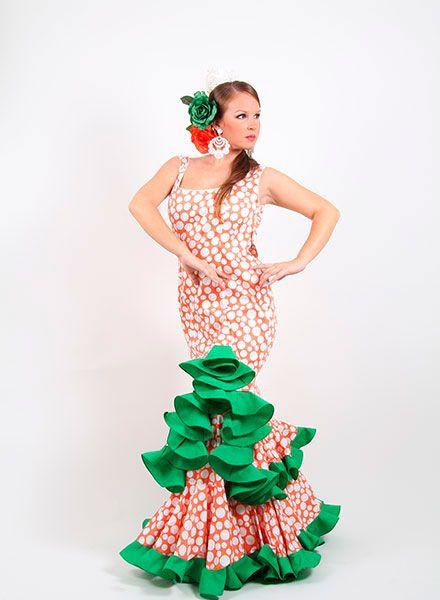 Trajes flamenca de tirantes, cómodos y ligeros de llevar desde 99 € http://www.elrocio.es/41-trajes-de-flamenca-baratos #trajesdeflamenca #trajesdeflamenca2015