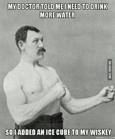 Overly Manly Man gets healthy. Not really. lol