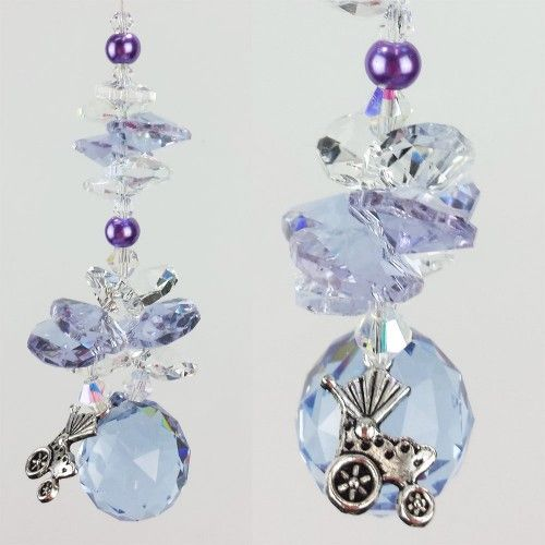 Baby Suncatcher 11 - BBSC011 - Crystal Suncatchers, Stick on Stained Glass, Leadlight Adhesive Overlay - Just Like Leadlight