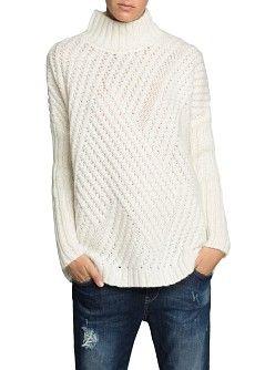 Zigzag Chunky Knit Sweater