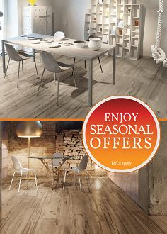 Check out our seasonal offers on wood effect tiles!