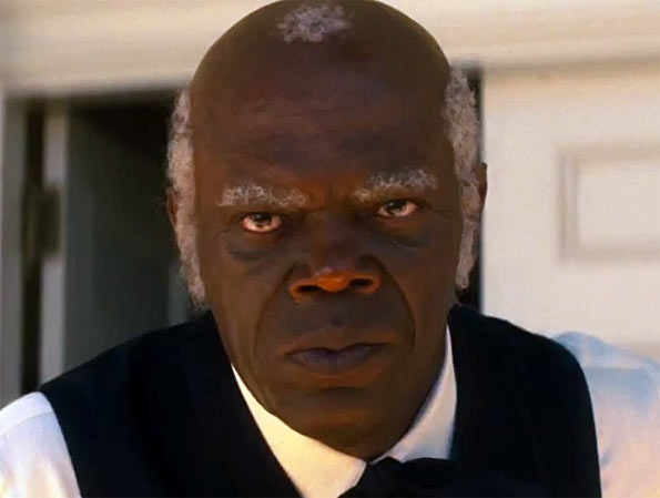 Samuel L Jackson en la película Django Desencadenado.