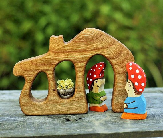 Gnomes in the house Montessori toys Nature by WoodenCaterpillar #integritytt