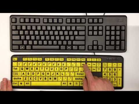 Assistive Technology for Computer Adaptations Large Print Keyboards: Low Vision Aids