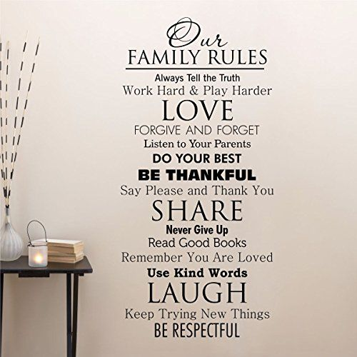 Ditooms Family Quotes Wall Decal Our Family House Rules Home Love Do Your Best Wall Art Vinyl Decal for Room Decor -- Check out this great product. (This is an affiliate link and I receive a commission for the sales) #HomeAndKitchen