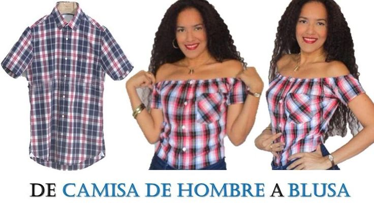 Veamos los pasos que hay que seguir para adaptar una camisa de hombre y convertirla en una blusa con escote de barco.