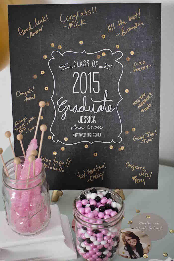 Pink & Gold Graduation Party via Kara's Party Ideas | http://KarasPartyIdeas.com #graduationparty (9)