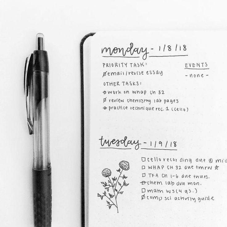 24 Minimalist Bullet Journal Spreads, die Sie sofort ausprobieren müssen