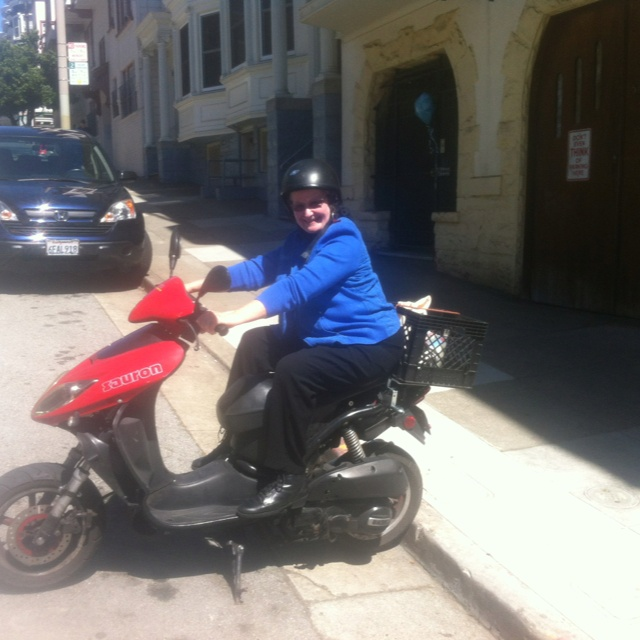 Jean Noll on a scooter!!