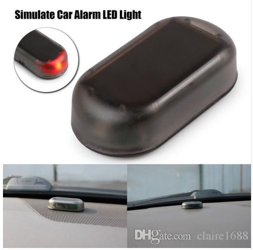Universal 1PCS Car Led Light Security System Warning Theft Flash Blinking Fake Solar Car Alarm LED Light - $8.99