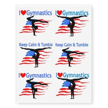 USA GYMNASTICS TATTOOS - love gifts cyo personalize diy