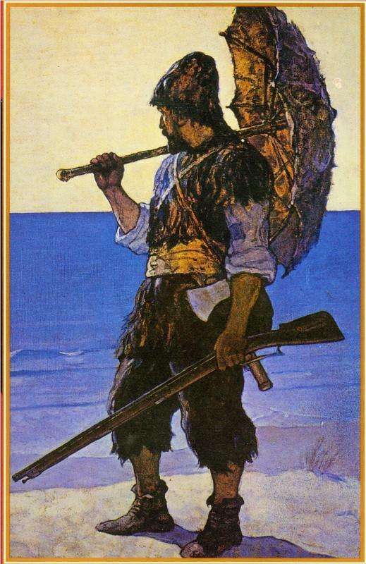 Robinson Crusoe illustration, 1920 N.C. Wyeth