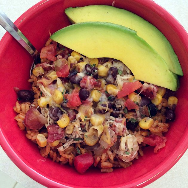 Slow Cooker Chicken Burrito Bowl 6g fat, 20g carbs, 34g protein