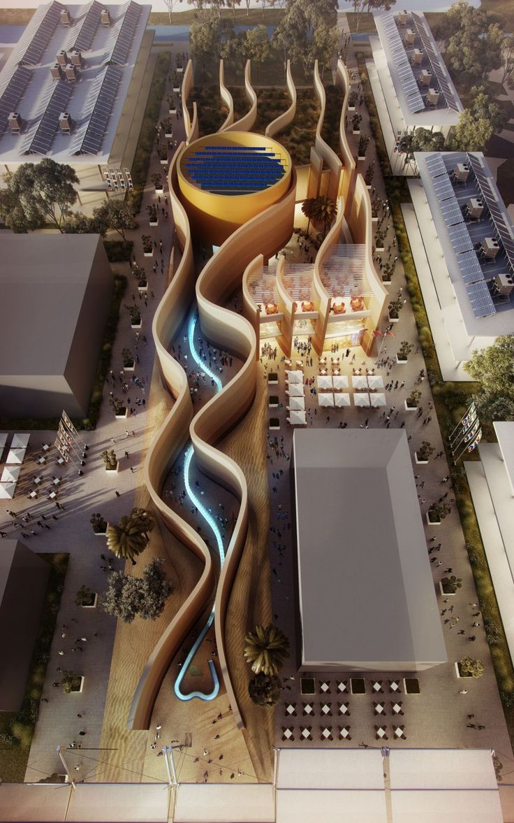 Designs have been revealed for the United Arab Emirates pavilion at the 2015 Milan Expo. Bringing the planning principles of the traditional desert city to