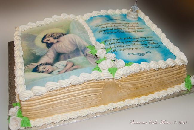 Book Design Boy Baptism Cake Baptism/Christening Ideas ...
