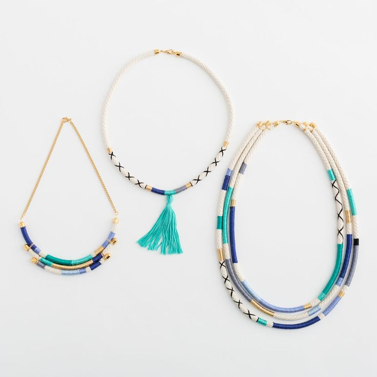 Wrapped Necklace Kit - Cool Tones | Brit + Co. Shop | DIY Online classes, DIY kits and creative products from makers you'll love.