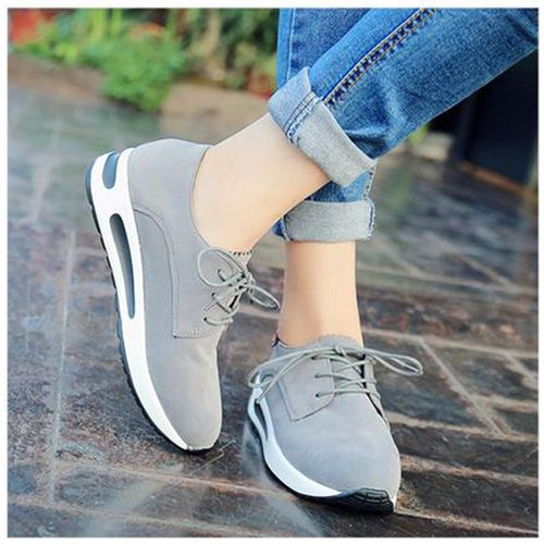 Womens Bow Lace Up Flat Running Shoes Casual 9 Athletic Sneakers Round Toe Vogue