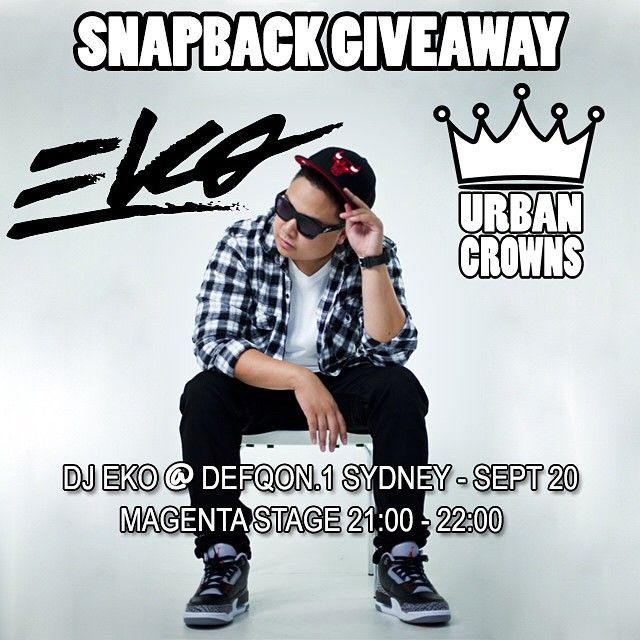 Urban Crowns & DJ Eko have teamed up for a SNAPBACK GIVEAWAY!!! Be sure to see @djekogram rip it up this weekend at DEFQON.1. Follow us on Instagram, Facebook, Twitter & Pinterest. #urbancrowns #officialurbancrowns #djeko #djekogram #defqon1sydney #performing #magentastage #snapbackgiveaway #teamup #urbanroyalty #swag #caylerandsons #crooksandcastles #mitchellandness #newera #dopecouture #logo #snapback #snapbacks #fashion #streetstyle #obey #photooftheday #instafashion #chicagobulls…