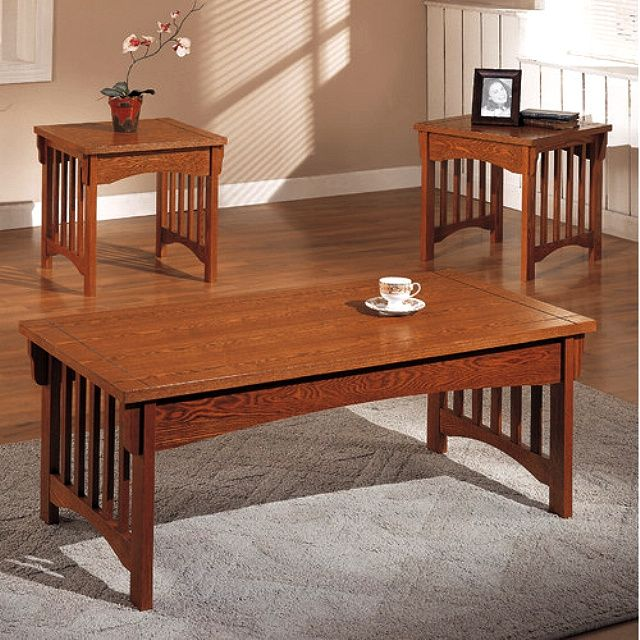 Find this Pin and more on Furniture - Misc. Mission Style Accent Oak  CoffeeTable with 2 End Tables Living Room Furniture - 25+ Best Ideas About Mission Style Furniture On Pinterest