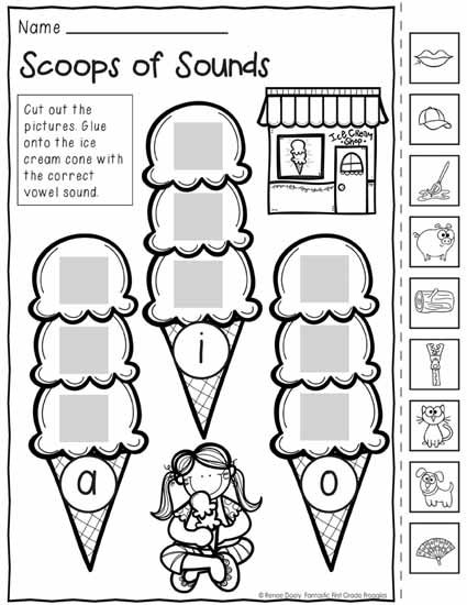 Back to School Print and Do- no prep math and literacy printables