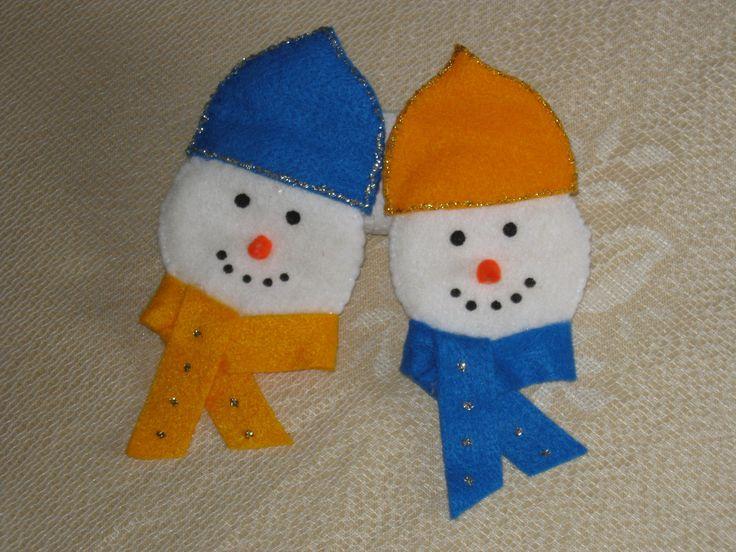 divertidas caritas de hombre de nieve para decorar hecho en paño lency ...