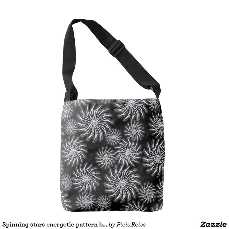 Spinning stars energetic pattern black bag