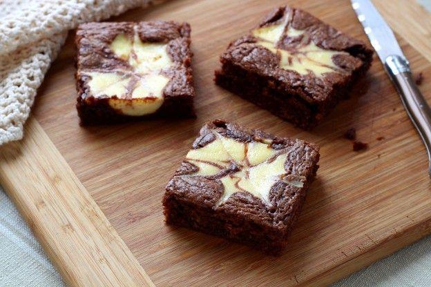 Brownie marmolado estilo cheesecake