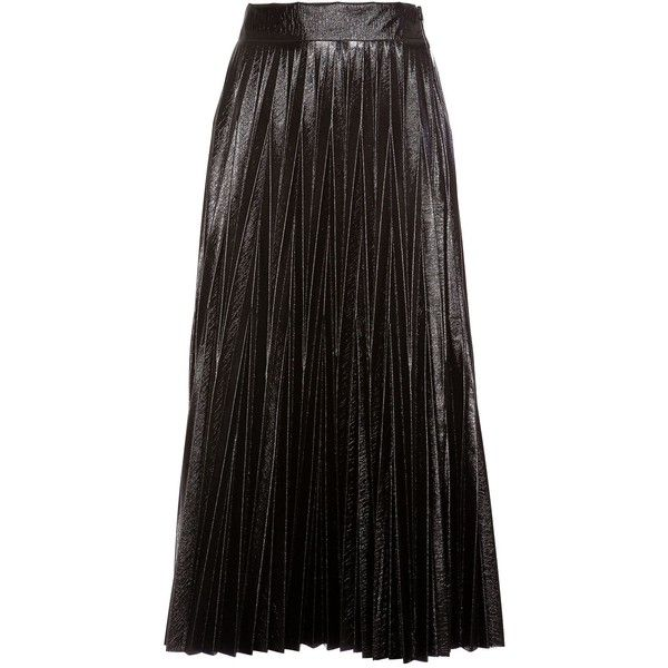 Pleated Skirt (18.990 RUB) ❤ liked on Polyvore featuring skirts, black, long pleated skirt, long maxi skirts, long skirts, pleated skirt and pleated maxi skirts